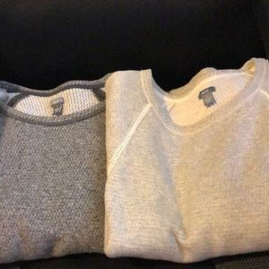 Two glossy aerie sweaters